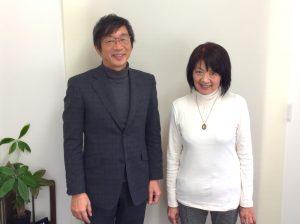 竹内代表と後藤カウンセラー