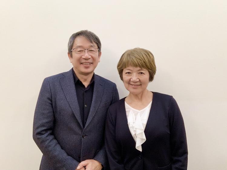 竹内嘉浩代表と後藤富美子カウンセラー